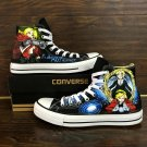 Design Fullmetal Alchemist Anime Converse Shoes White Hand Painted Canvas Sneakers