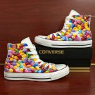 Hand Painted Shoes Colorful Chocolate Beans Custom Design Converse Chuck Taylor Sneakers