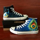 Design Custom Peacock Unisex Converse All Star Hand Painted Canvas Shoes
