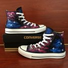 Unisex Hand Painted Converse Shoes Original Design Galaxy Nebular High Top Canvas Sneakers