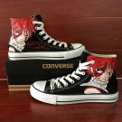 Design Fairy Tail Natsu Anime Hand Painted Shoes Unisex Converse All Star Sneakers