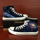 Original Galaxy Space Planet Unisex Hand Painted Canvas Shoes Converse All Star