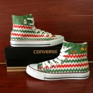 Merry Christmas Design Converse All Star Shoes High Top Hand Painted Canvas Sneakers