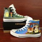 My Neighbor Totoro Anime Man Woman's Hand Painted Shoes High Top Converse All Star