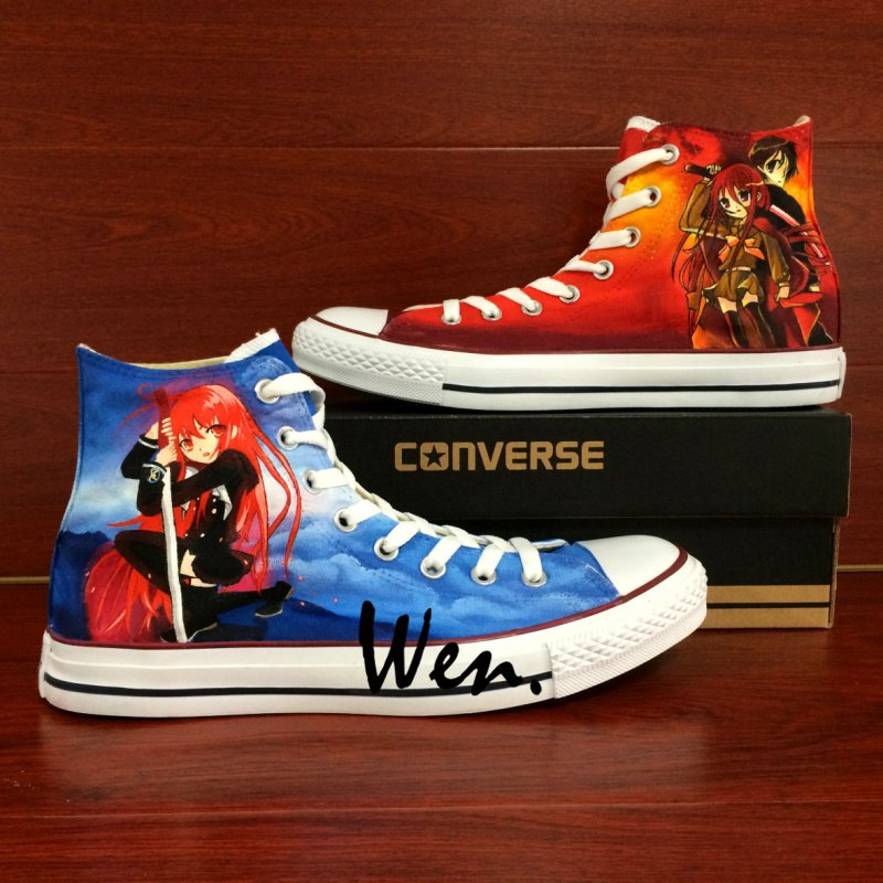 Unisex Converse All Star Design Anime Shakugan No Shana Hand Painted Canvas Sneakers