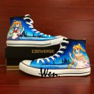Sailor Moon Anime Hand Painted Shoes Custom Design Converse All Star for Woman