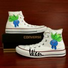 Anime Hand Painted Shoes Design Pokemon Oddish Men Women's Converse Chuck Taylor