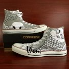 Original Fish Totem Hand Painted Shoes Custom Design Unisex Converse All Star Sneakers