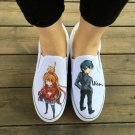 Wen Anime Hand Painted Shoes Custom Design Tiger Dragon Slip Ons Men Women's Canvas Sneakers