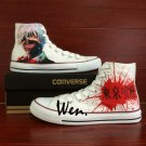 Anime Hand Painted Shoes Design Tokyo Ghouls High Top Converse All Star Canvas Sneakers