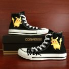 Custom Design Pikachu Anime Pokemon Hand Painted Converse Shoes Canvas Sneakers