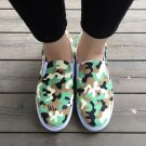 Wen Unisex Shoes Hand Painted Army Camouflage Pattern Original Design Slip on Sneakers