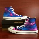 Blue Pink Galaxy Nebular Stars Original Design Hand Painted Converse All Star