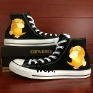 Design Psyduck Anime Pokemon Converse All Star Hand Painted Shoes Unisex Canvas Sneakers