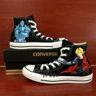 Custom Design Anime Fullmetal Alchemist Hand Painted Canvas Shoes for Men Women Converse All Star