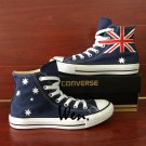 Design Australia Flag Converse Hand Painted Shoes Men Women High Top Canvas Sneakers