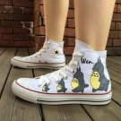 Anime Converse Sneakers Design My Neighbor Totoro Hand Painted Canvas Shoes for Man Woman