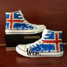 Iceland Flag Shoes Converse All Star Hand Painted Canvas Shoes Sneakers Athletic All Star
