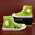 Original Design Kiwi Fruit Athletic Shoes Hand Painted Canvas Sneakers for Men Women