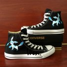 Hand Painted Sneakers Canvas Shoes Anime Pokemon Glaceon Design Converse All Star