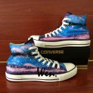Original Converse All Star Hand Painted Shoes Galaxy Stars Milky Way Canvas Sneakers