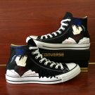 Anime Converse All Star Shoes Hand Painted Naruto Uchiha Sasuke Unisex Black Canvas Sneakers