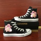 Pokemon Hand Painted Shoes Anime Lickitung Converse All Star Unisex Canvas Sneakers