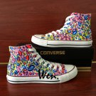 Original Design Leopard Prints Converse Shoes Hand Painted Canvas Sneakers All Star