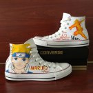 Men Women Converse Hand Painted Anime Shoes Uzumaki Naruto Canvas Sneakers