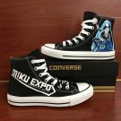 Anime Shoes Hand Painted Converse All Star Vocaloid Hatsune MIKU EXPO Canvas Sneakers