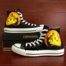Halloween Shoes Hand Painted Pumpkin Lamp Bats Unisex Converse All Star Sneakers
