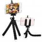 Octopus adjustable tripod holder Universal cell phone with mounting adapter Black