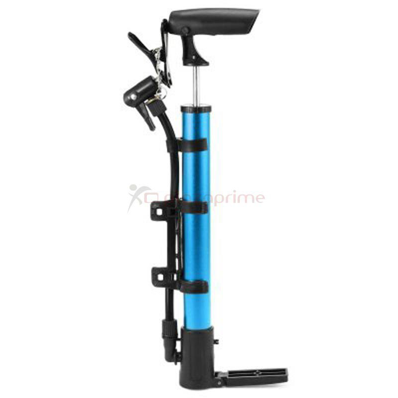 Portable air pump high pressure hand bicycle tire inflator Blue