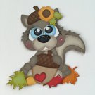 "Paper Pieced Die Cut ""Autumn Squirrel"" Embellishment"