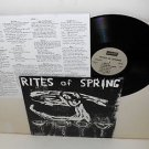 RITES OF SPRING s/t end on end Lp Record with lyrics insert , dischord , fugazi