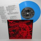 "The LETTERBOMBS harmless records 7"" BLUE VINYL Record"