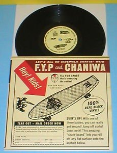 "F.Y.P. / CHANIWA beautiful sounds of skateboarding 10"" Record punk Vinyl fyp"