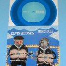 "KEVIN SECONDS / MIKE HALE splt 7"" Record BLUE Vinyl gunmoll in the red 7 seconds"
