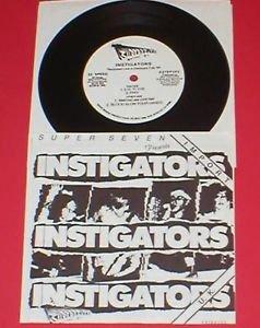 """INSTIGATORS 7"""" Record oop 1986 mystic records RARE punk"""