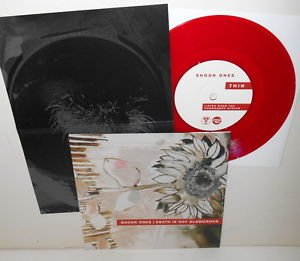 "SHOOK ONES / DEATH IS NOT GLAMOROUS four song Split 7"" RED Vinyl Record w/Lyrics"