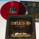 USELESS ID the lost broken bones Lp Record RED Vinyl w/ lyrics insert