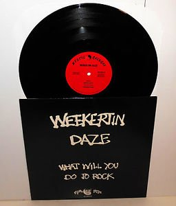 WEEKERTIN DAZE what will you do to rock LP Record Vinyl orig 1985 mystic records