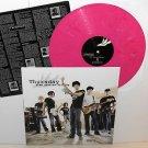 THURSDAY five stories falling Lp PINK Marble Vinyl w/ETCHING of Jet Black lyrics