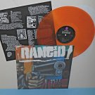 RANCID s/t - self titled - with gun LP Record ORANGE Vinyl , LIMITED EDITION