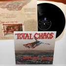 TOTAL CHAOS patriotic shock Lp 1995 Vinyl Record w/ lyrics insert , bad religion