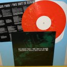 DILLINGER FOUR this sh*t is genius Lp Record ORANGE Vinyl with lyrics insert