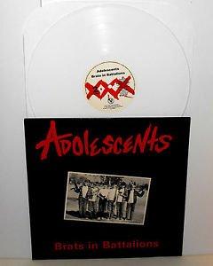ADOLESCENTS brats in battalions Lp Record WHITE Vinyl