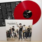 THURSDAY five stories falling Lp Record RED Vinyl w/ ETCHING of Jet Black lyrics