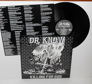 DR. KNOW killing for god LP Record w/ motorhead, flipper, dayglo abortion covers