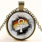 WOMEN'S HOT Vintage Cabochon Tibetan silver Glass Chain Pendant Necklace NEW - Q